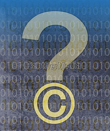 copyright symbol question mark with digital