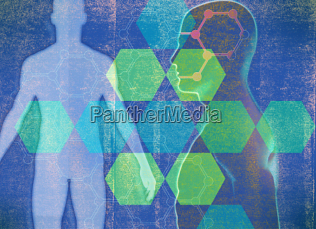 geometric pattern over male human body