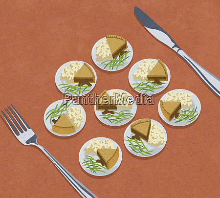 knife and fork with lots of