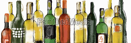 various wine bottles