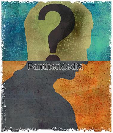question, mark, inside, of, man's, head - 26011364