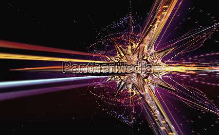 abstract futuristic exploding star shape