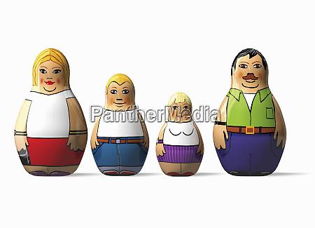 family of nesting dolls