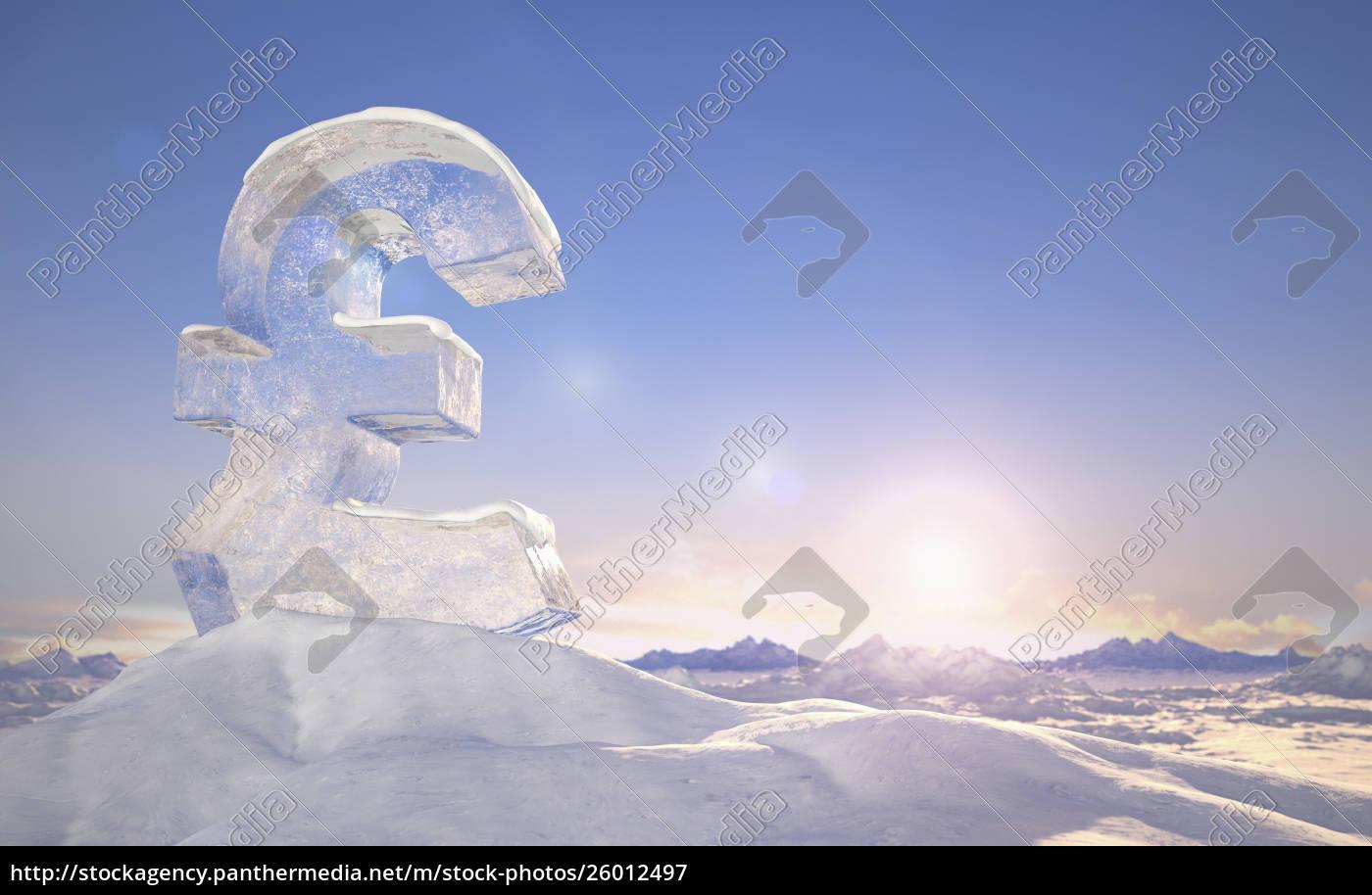 frozen, british, pound, sign, on, top - 26012497