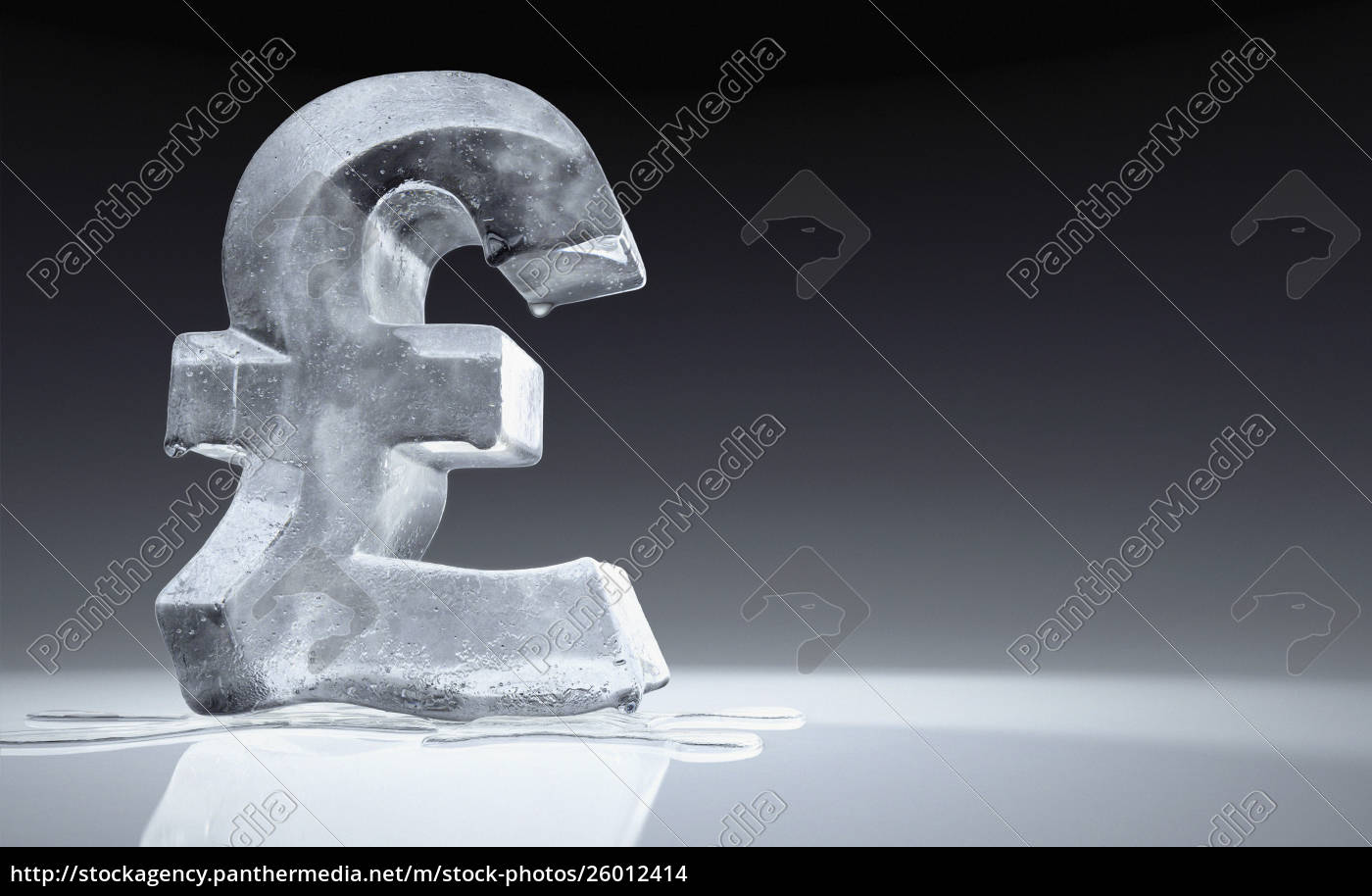 melting, frozen, british, pound, sign - 26012414