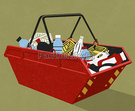 plastic, packaging, recycling, in, industrial, bin - 26012116