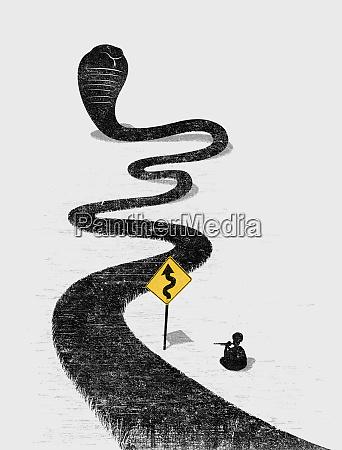 snake charmer charming winding snake road