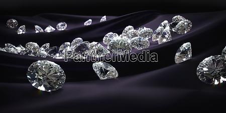 lots of diamonds on purple silk
