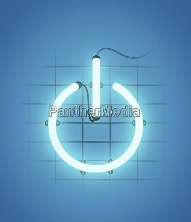 illuminated power button