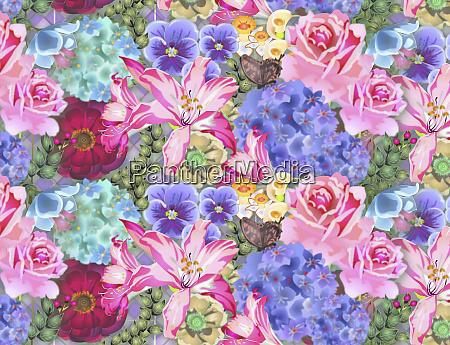 full frame pastel floral pattern