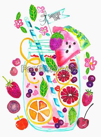 lots of fresh fruit ingredients for