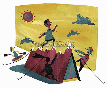 people enjoying various outdoor pursuits