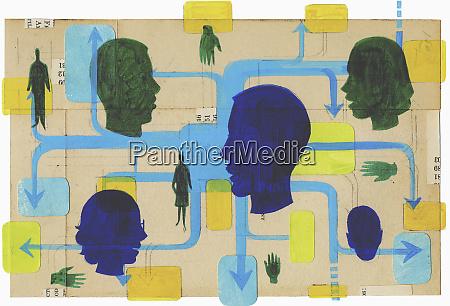 social network of men and women