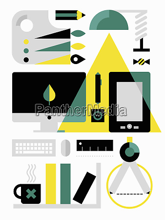 desktop equipment for digital artist