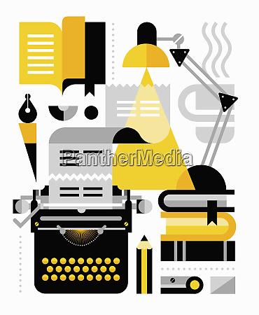 desk equipment for writer