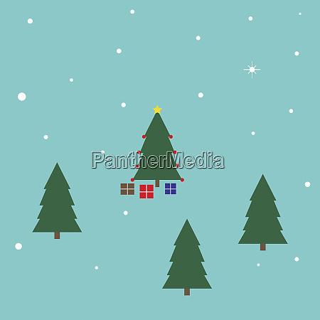christmas presents beneath christmas tree in