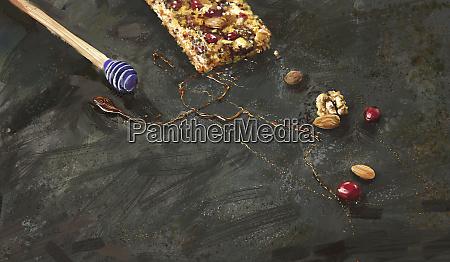 sticky home made granola bar