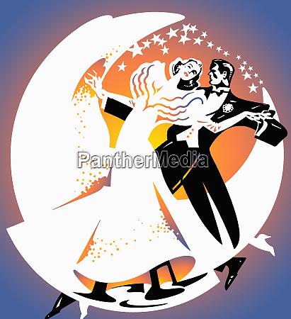 glamorous 1920s couple dancing