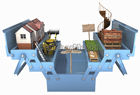 house building construction tool box