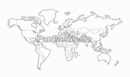blank, black, and, white, map, of - 26020544