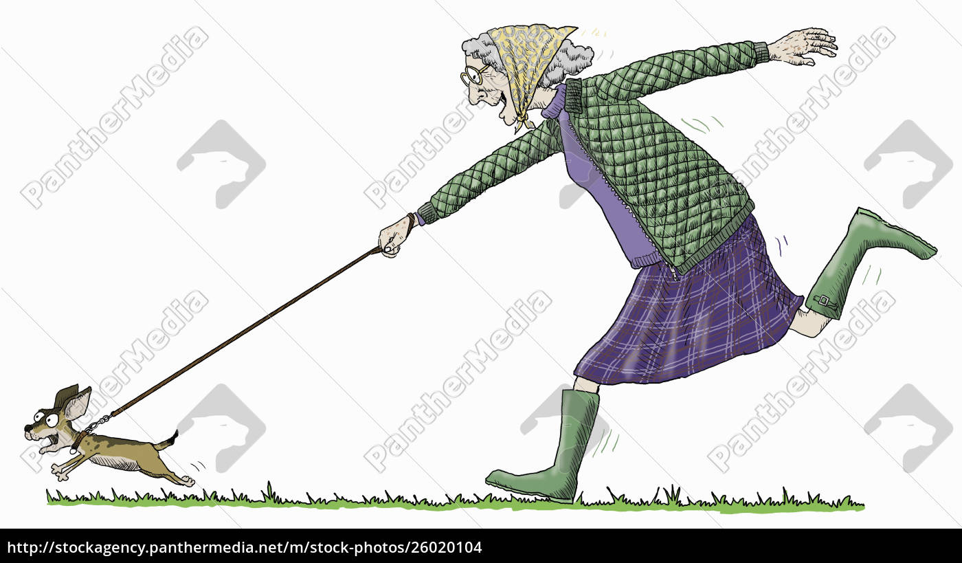 elderly, woman, having, fun, running, to - 26020104