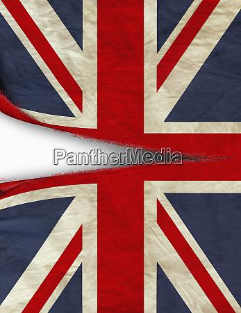 british union jack flag being ripped