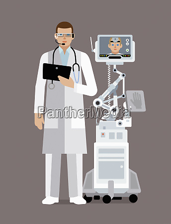 doctor using digital technology to communicate