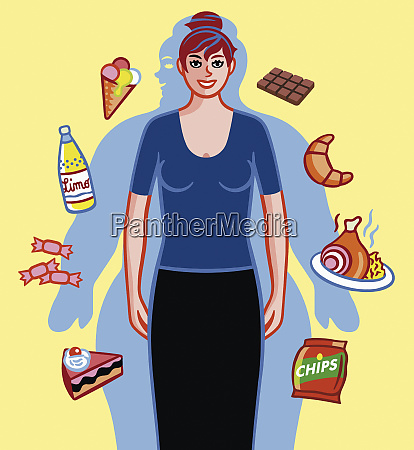 woman pleased at losing weight