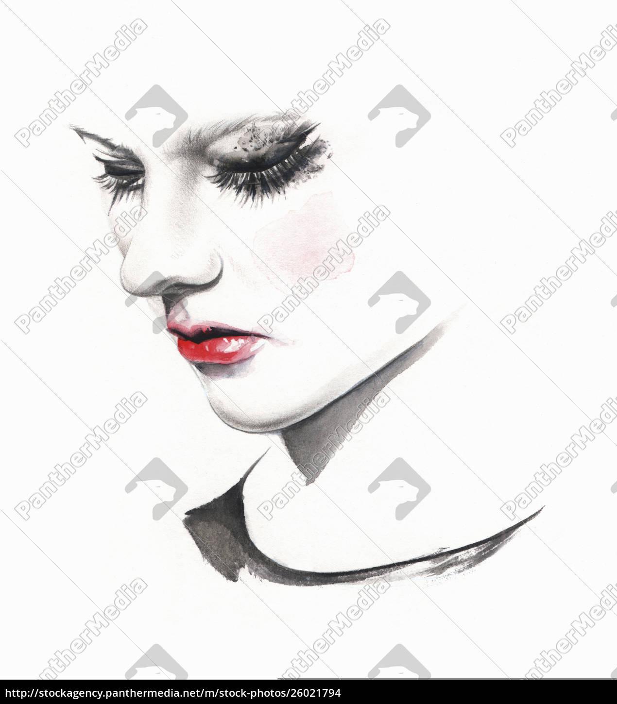 sad, woman, crying, with, smudged, makeup - 26021794