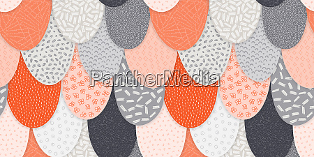 vector seamless abstract pattern with hand