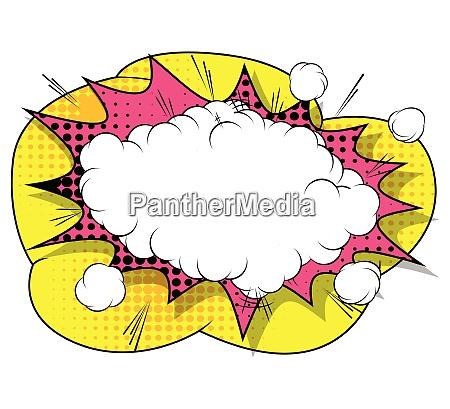 vector retro comic book explosion bubble