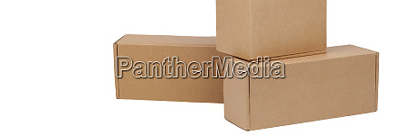 cardboard boxes for goods on a