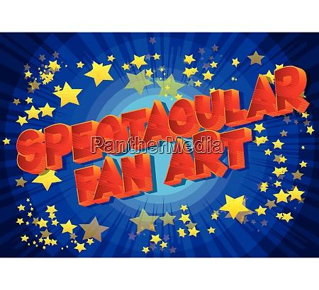 spectacular fan art vector illustrated