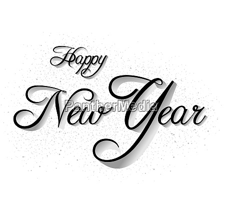 happy new year inscription on white