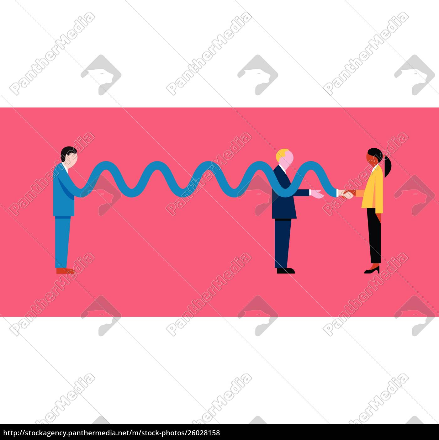 businessman, with, long, arm, shaking, hand - 26028158