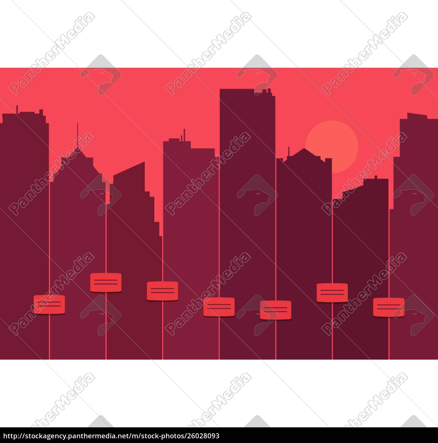 silhouette, of, a, city, skyline - 26028093