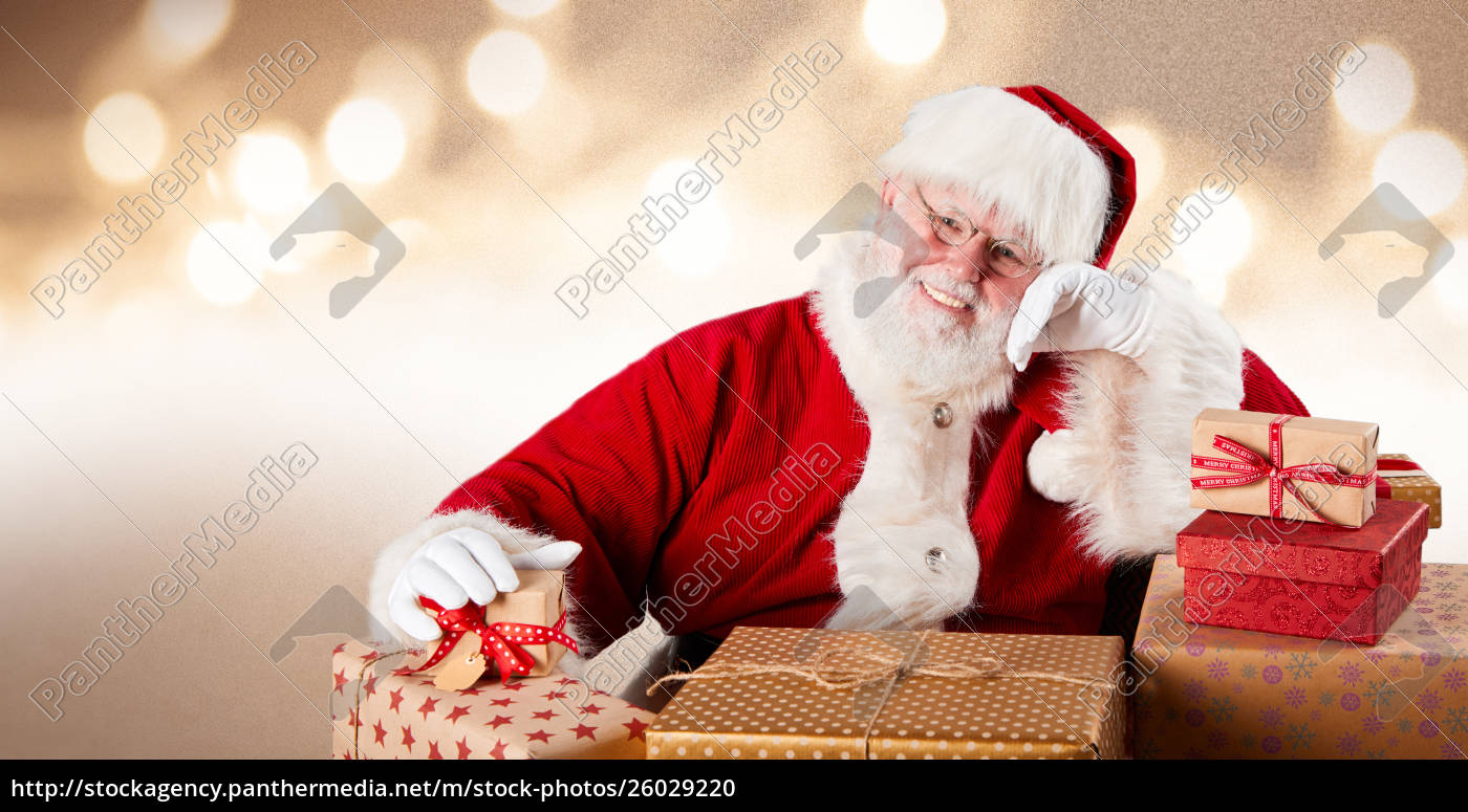Father Christmas Images Free.Royalty Free Photo 26029220 Merry Father Christmas With Colorful Gifts