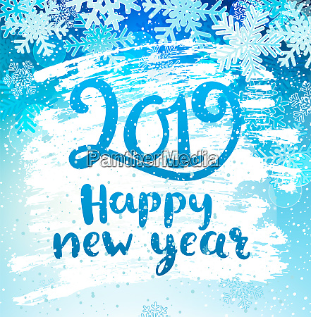 happy 2019 new year holidays geeting