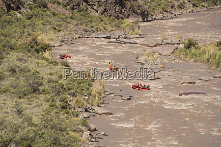descent in river rafting in the