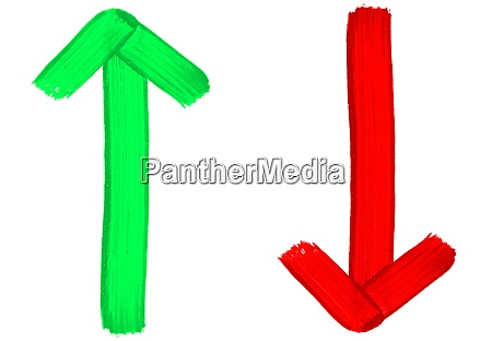 painted red and green arrows up