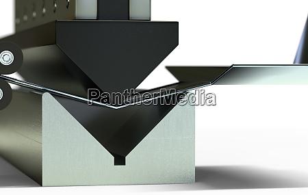 bended metal sheet bending machine 3d