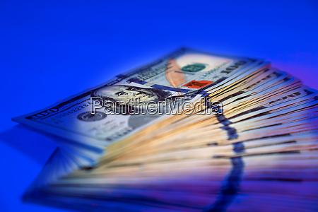 close up american hundred dollar bills
