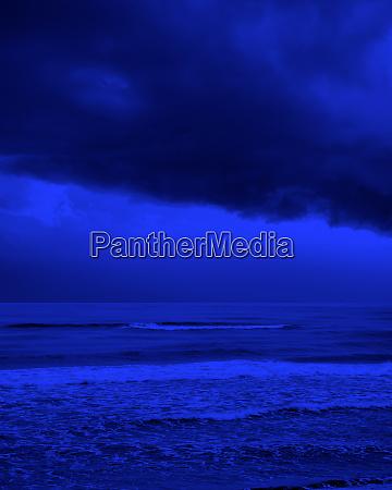 stormy day on beach