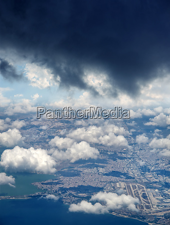 aerial view of istanbul city asian
