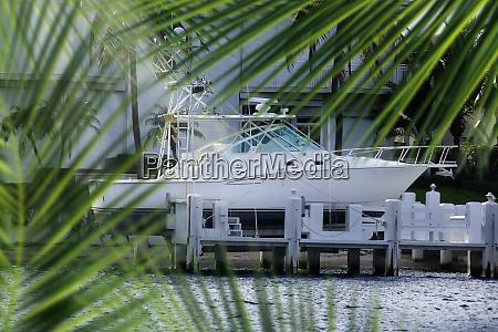 close up parked boat at dock