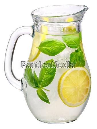 basil lemon detox water pitcher