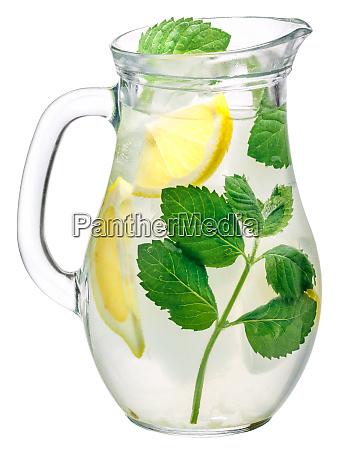 mint lemon detox water pitcher