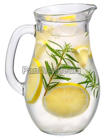 rosemary lemon detox water pitcher