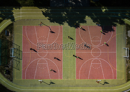 aerial view of a soccer