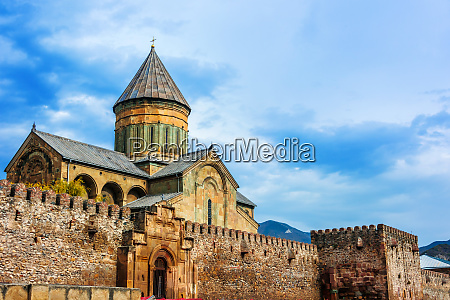 svetitskhoveli cathedral in mtskheta georgia